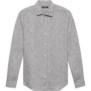 Banana Republic Camden Standard Fit Linen Shirt 👔